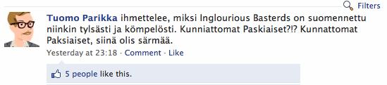 Paskiaisia suomeksi