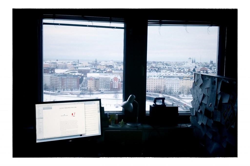 Työhuoneen ikkuna