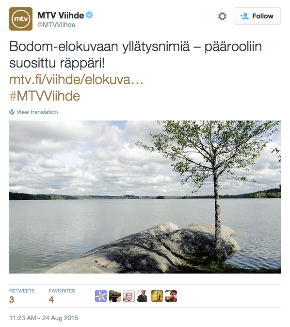 MTV:n Bodom-otsikko