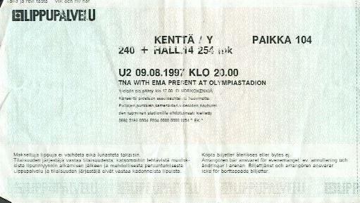 U2, paikka 104, 254 mk